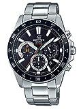 Casio EDIFICE Reloj en caja sólida, 10 BAR, Negro, para Hombre, con Correa de Acero inoxidable, EFV-570D-1AVUEF