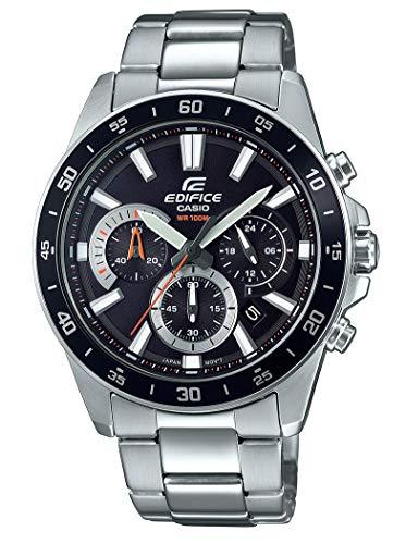 Casio Edifice Herren Massives Edelstahlgehäuse und Edelstahlarmband Uhrenarmband EFV-570D-1AVUEF