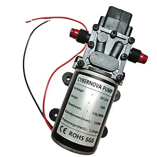 CYBERNOVA DC12V 7L / min 174 PSI Pompa autoadescante a membrana ad alta pressione per acqua dolce per campeggio / barca / camper / giardino / veicolo / pulizia camper