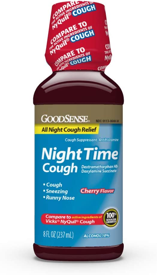 GoodSense Nighttime Cough Syrup for Max 82% OFF 8 Ounce Atlanta Mall Fluid Relief
