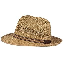 Strohhut | Sommerhut | Sonnenhut - Handgeflochten aus 100% Stroh - Bogart - Besonders Leicht, Flexibel, Hautfreundlich & Bequem- Gr. 57, Natur
