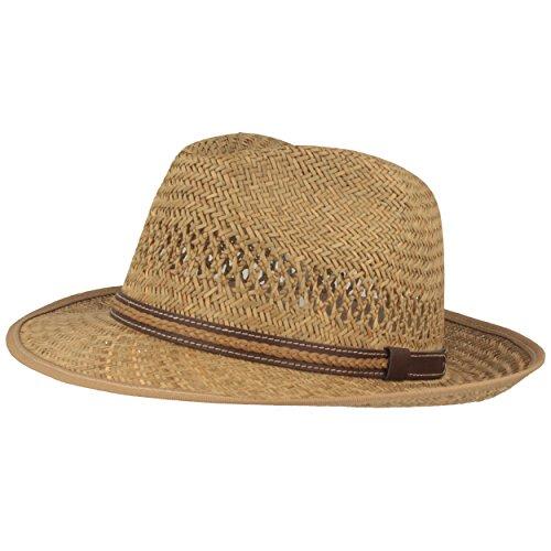Hut Breiter Strohhut | Sommerhut | Sonnenhut - Handgeflochten aus 100% Stroh - Bogart - Besonders Leicht, Flexibel, Hautfreundlich & Bequem- Gr. 57, Natur