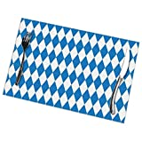 gshihuainingxianruanchaos Juego de 6 manteles individuales rectangulares alemanes de Baviera, resistentes al calor, resistentes a las manchas, fáciles de limpiar, 18 x 30,5 cm