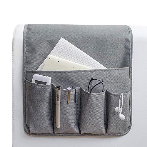 iFCOW Organizador de reposabrazos de sofá con 7 bolsillos para colgar sofá bolsa de almacenamiento para teléfonos inteligentes con control remoto