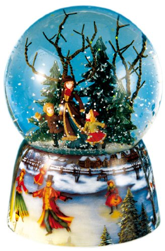 Spieluhrenwelt Music Box World 46070 - Bola de Nieve Musical con Patinadores