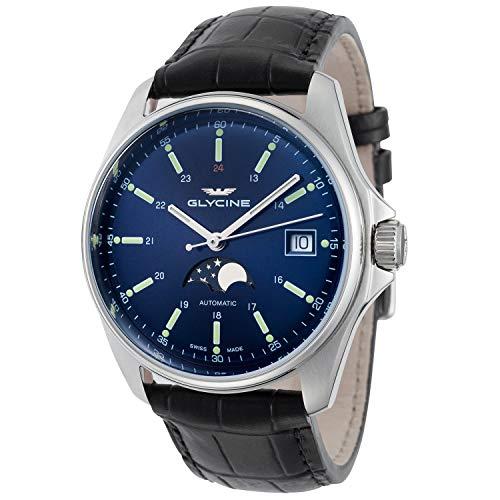 Glycine Combat 6classico automatico blu quadrante mens orologio GL0113