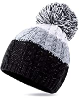 YANIBEST Adult Wool Baggy Knitted Skull Slouch Beanie Hat Women