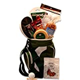 Golfer's Tee Time! Drink Cooler and Gourmet Food Gift Basket for Golfers