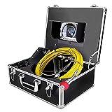 Cámara de inspección de Tuberías 20M, Pantalla de 7 pulgadas Profesional Endoscopio Industrial de Alcantarillado IP68 Impermeable con Grabador de DVR con Tarjeta SD de 8GB
