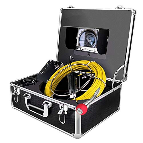 "Rohrkamera mit Licht 20m Inspektionskamera Wasserdicht IP68 Pipeline Video Kanalkamera Industrie Rohr Endoskop Kanal Kamera mit 7\"" HD 1000TVL LCD-Monitor"