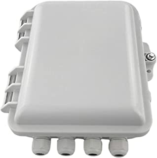 FTTH Fiber Optic Distribution Box 12 Cores, High Strength Plastic Outdoor/Indoor FTTH Terminal Box Anti-Ultraviolet