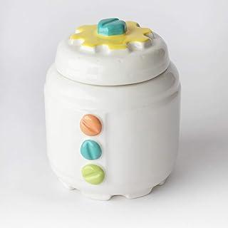 Azucarero de Cerámica Artesanal, Más colores disponibles, diseño mecánico con engranajes y tornillos - h 10,5 x Ø 8cm (Mul...