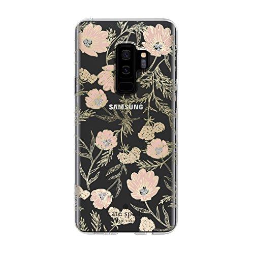 kate spade New York Schutzhülle für Samsung Galaxy S9+ - Multi Blossom Pink/Clear/Gold mit Steinen