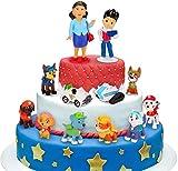 Decoración para tarta, minifigura de Patrulla Canina, 12 minifiguras, tartas, accesorios para decoración de tartas de fiesta