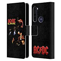 Head Case Designs オフィシャル ライセンス商品 AC/DC ACDC ライブ アルバム・アート Motorola Moto G Pro/Moto G Stylus (2020) 専用レザーブックウォレット カバーケース