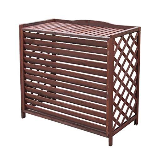 Portafiori per piante da giardino, decorazione per scaffali da balcone, telaio per condizionatore d'aria, ripiano in legno massello anticorrosione, copertura in legno, aria condizionata per esterni