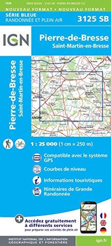 Pierre-de-Brese/Sankt-Martin-en-Brese 1:25.000: IGN Cartes Top 25 -Topograpgische Karte