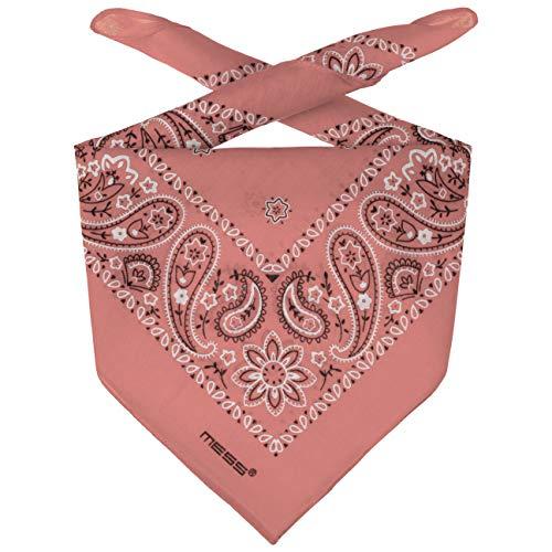 Lipodo Bandana Tuch Damen/Herren/Kinder - Kopftuch in rosa aus 100% Baumwolle - Multifunktionstuch in Einheitsgröße (55 x 55 cm) - vielfältige Tragemöglichkeiten