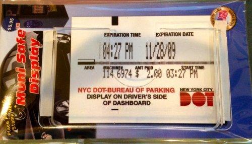 Muni Meter Safe Display Parking Receipt Slip Holder (Rectangular)