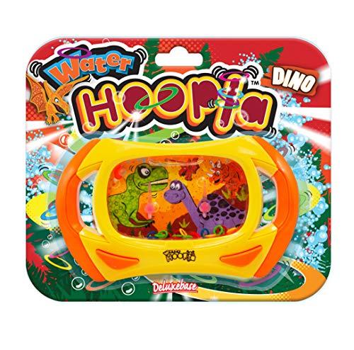 Water Hoopla Juego de Agua y Habilidad - Dinosaurio de Deluxebase. Juego de Agua Manual Retro con diseño jurásico. Juego de Arcade Manual de Lanzamiento de Aros para niños y Adultos