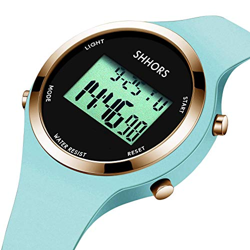 Kinder Uhr, Armbanduhr für Kinder Mädchen, wasserdichte Analog Quarzuhr, Sport Uhr, Digitale Kinderuhr, elektronischer Kalender LED Alarm Uhren mit Silikon Armband