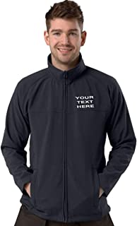 Personalised/Embroidered Navy Softshell Jacket Size S-8XL