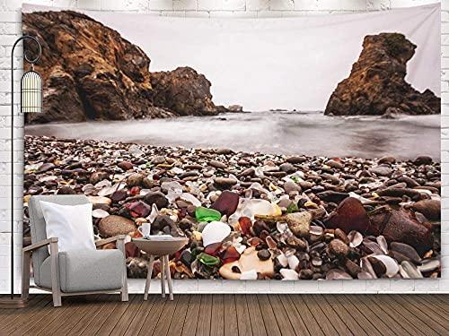 NA Playa, Tapiz Grande, Tapiz para Colgar en la Pared, tapices Deacutecor Sala de Estar Dormitorio para el hogar en casa por Printed for Beach en Fort Bragg Sonoma Coast California