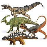 Gemini&Genius Ankylosaurus Allosaurus Dilophosaurus Parasaurolophus Jurassic Park Dinosaurs World Action Dino Model Toy Set