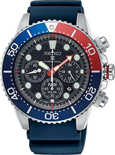 Fashion Shopping SEIKO PROSPEX PADI Special Edition Chronograph Solar Diver's 200M Pepsi Bezel