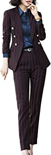 Women's Two Piece Office Lady Blazer Suits Formal Women Work Blazer Jacket,Pant/Skirt Suits