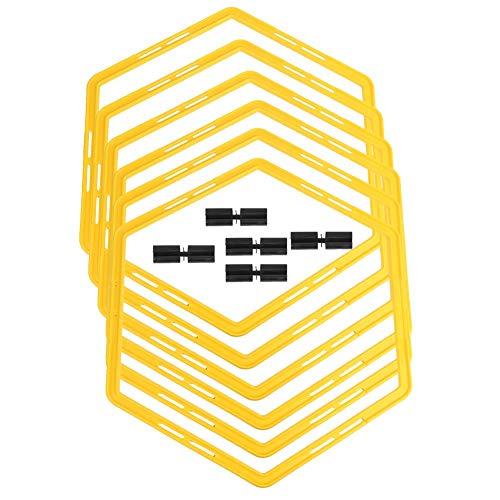 PP Material 6pcs Hexagon Hexagon Agile Circle, Capacitación Agile Set Fácil transporte Color de Color Brillante Círculo, Alta resistencia fácil de reconocer for el equipo de fútbol deportivo peng