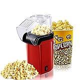 XIKUO Máquina de palomitas de maíz Máquina de palomitas de maíz de aire caliente de 1200 W con diseño de boca ancha Máquina de palomitas de maíz rápida No se necesita aceite, incluida la taza medidora