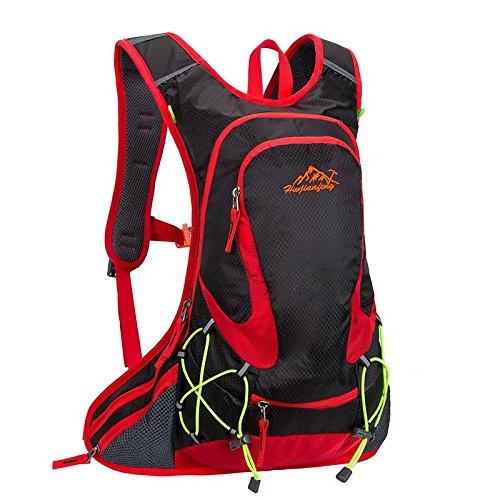 QYXANG Rucksack für Outdoor - Sportarten Laufen Reisen Bergsteigen mit Helm Netto wasserdicht atmungsaktive Ultralight 18l 5farben, Black