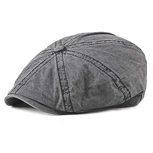 H.Y.BBYH Sombrero 2019 Diseño de Moda de algodón Vendedor de periódicos Casquillo de la Boina para Hombres y Mujeres Vintage Retro Gorras Clásico Retro Nueva Girl Beret Hat Gorra