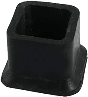 Flyshop Square Anti-Slip Rubber Leg Tips Covers Furniture Protectors 1-1/2 Inch x 1-1/2 Inch (38 x 38mm) Black 10Pcs