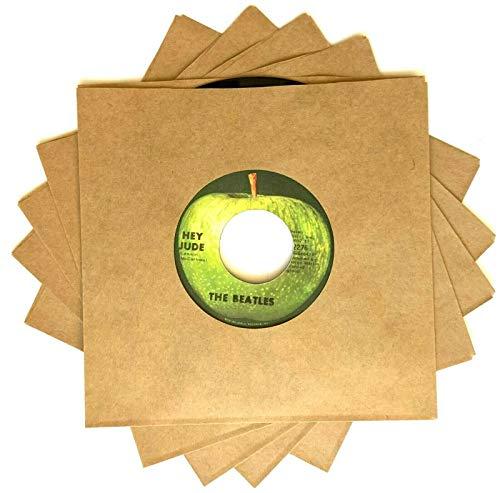 100-pack of Brown Kraft Paper Record Sleeves 45rpm 7-inch Vinyl Singles 45 RPM 45s 7-in. Blank Jukebox/Juke Box Picture Sleeves