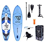 Wattsup SAR 10 Combo 10'0' gonflable Sup Board Stand Up Paddle Pack complet 305 x 81 x 15 cm avec siège kayak et double pagaie