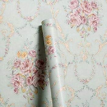 Wollzo Floral Bedroom Self Adhesive Wallpaper Multicolour 45 X 500 Cm Amazon In Home Improvement