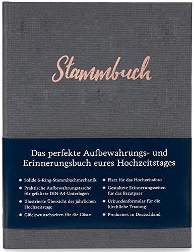 Modernes Stammbuch der Familie A5, Familienstammbuch Amelie (Quarzgrau)