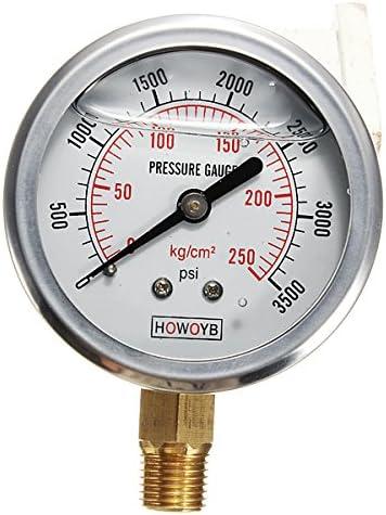 Hydraulic Liquid Filled Pressure Gauge 0-3500 PSI