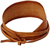 PIECES Damen Grtel VIBS LEATHER TIE WAIST BELT, Einfarbig, Gr. 80 cm (Herstellergre: 80), Braun (Cognac)