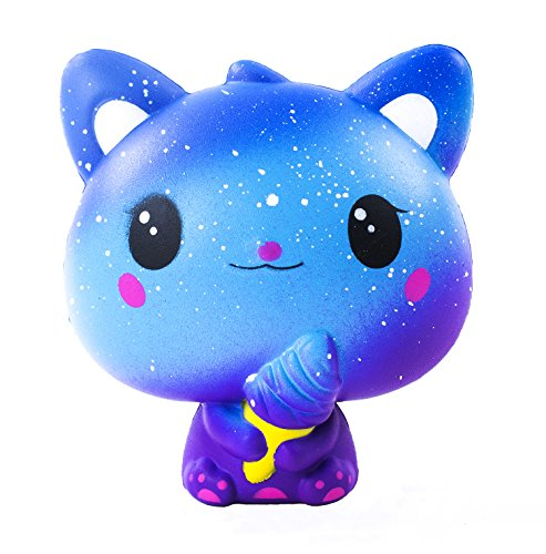 AILIMY Squishies Slow Rising Ice Cream Cat Jumbo Squishy Kids Toy Prime Kawaii Animal Party Supply
