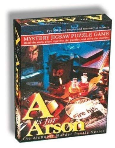 TDC Games Alphabet Mystery 500 Piece Jigsaw Puzzle - A Is For Arson