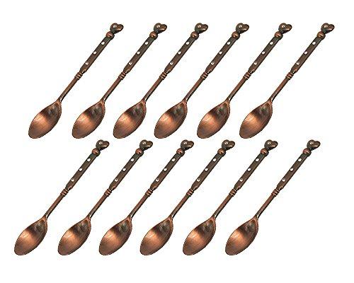 HENGRUI Creativa Cuchara pequeña 12 Piezas en Forma de cora