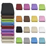 Qool24 Waffelpique Tagesdecke 100prozent Baumwolle viele Farben & Größen Sofaüberwurf Gelb 200 x 200 cm