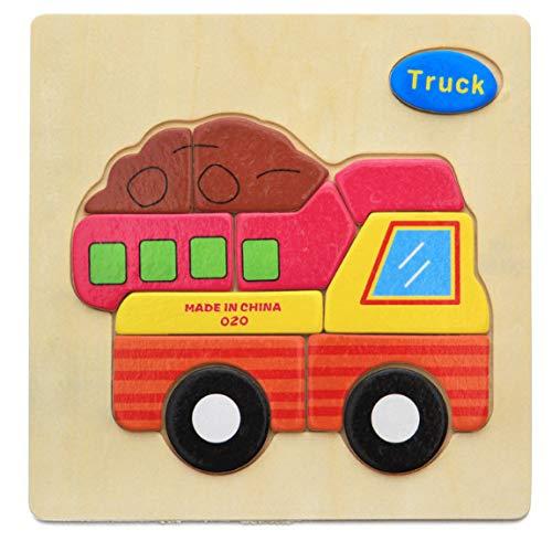 DSJDSFH Holzpuzzles Für 1 2 3-Jährige Kinderspielzeug-Puzzle Cartoon-Tier-Puzzle Geeignet Für Jungen Und Mädchen Von 2 Bis 5 Jahren Lernspielzeug Für Die Frühe Kindheit