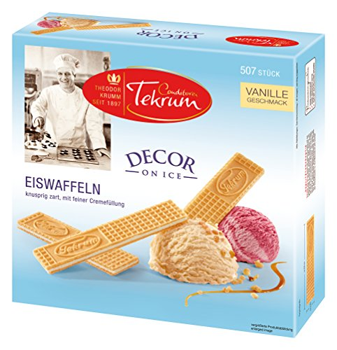 Tekrum Eiswaffeln lose, Vanille Geschmack 507Stk, 1er Pack (1 x 1268 g)