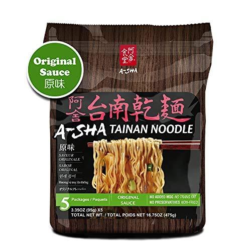 A-SHA Healthy Ramen Noodles - Thin Tainan Style -Original Flavor Sauce...
