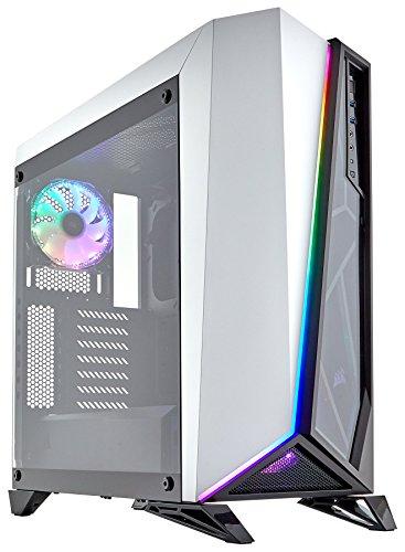 Corsair Carbide Spec-Omega RGB - Chasis semitorre para Juegos, con Cristal Templado, Color Blanco y Negro (CC-9011141-WW)