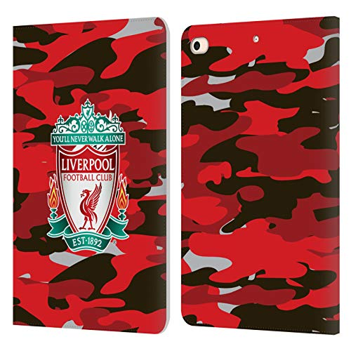Official Liverpool Football Club Club Colourways Crest Camou PU Leather Book Wallet Case Cover Compatible For Apple iPad mini (2019)